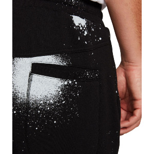 SPRAYDOT FLEECE PANT - BLACK