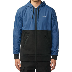 Alfred Zip Through Hoodie - Royale Blue