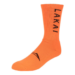 SIMPLE CREW SOCK - NEON ORANGE