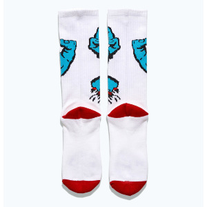 Screaming Hand Socks - White