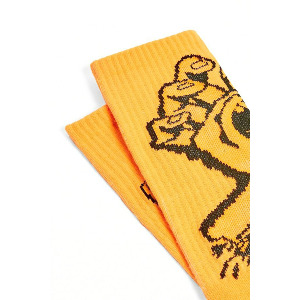 Screaming Hand Mono Sock - Fluro Orange
