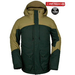 ANDERS 2L TDS JACKET - DARK GREEN