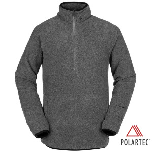 POLARTEC® 1/2 ZIP - HEATHER GREY