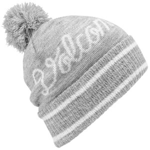 SCRIPT BEANIE - HEATHER GREY