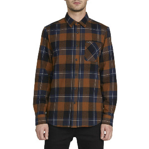 CADEN PLAID L/S - BISON