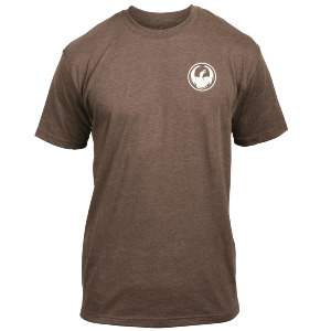 ICON CHEST TEE - BROWN HEATHER