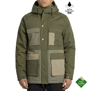 RENTON WINTER 5K JKT - ARMY GREEN COMBO