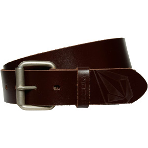 STRAIGHT LEATHER BELT - BROWN