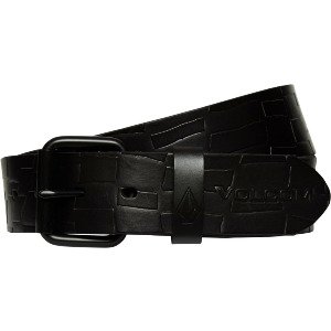 STONE MB LEATHER BELT - BLACK