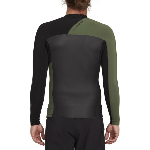 STONE ZIP RASHGUARD JACKET - BLACK