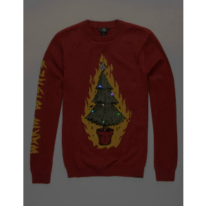 WARM WISHES SWEATER - SANTASTONE DEEP RED