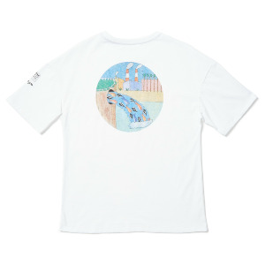 P. C. AYERS FA SS TEE - WHITE FLASH
