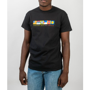 CHOCOLATE FLAGS TEE - BLACK