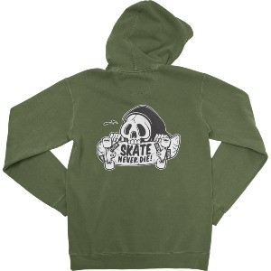NEVER DIE HOOD - MILITARY GREEN