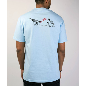 Early Bird Tee - Powder Blue