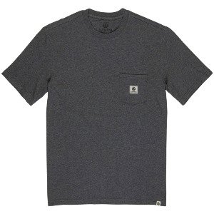 BASIC POCKET LABEL SS - CHARCOAL HEATHE