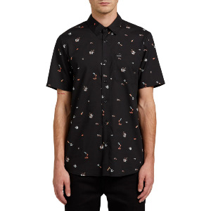 PARTY PIECES S/S SHIRT - BLACK