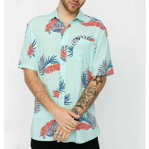 BERMUDA S/S SHIRT - RESIN BLUE