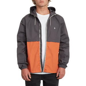 HOWARD HOODED JACKET - BURNT ORANGE