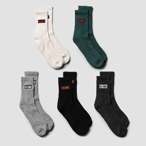Hilite Crew Sock 5 Pack - Assorted