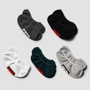 Hilite Invisible Sock 5 Pack - Assorted