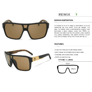 REMIX - MATTE BLACK/LUMALENS SKY BLUE IONIZED