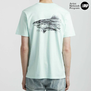SEA SONG SS T-SHIRT - DUSTY AQUA