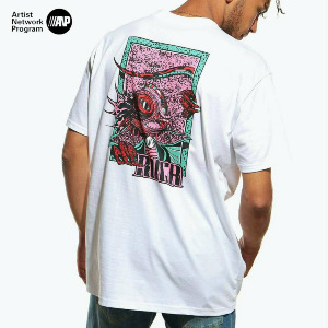 LIZARD WIZARD SS T-SHIRT - WHITE