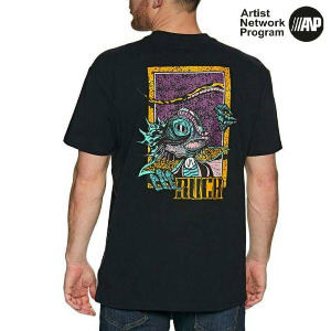 LIZARD WIZARD SS T-SHIRT - BLACK 2