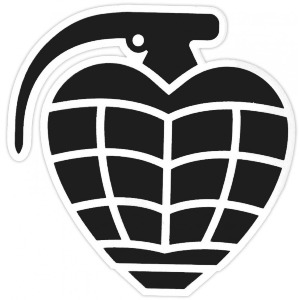 GRENADE DIECUT STICKER - ASSORTED1