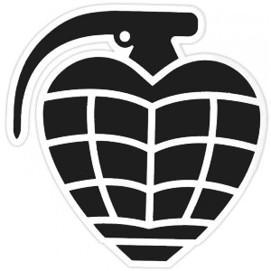 GRENADE DIECUT STICKER - ASSORTED