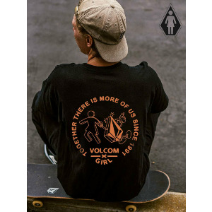 STONELY VOLCOM X GIRL SKATEBOARDS SS - BLACK