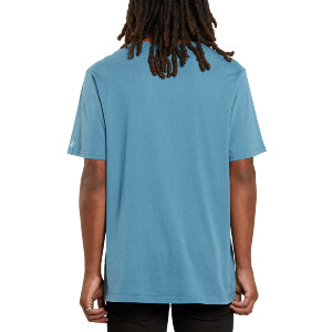 SOLID S/S POCKET TEE - HORIZON BLUE