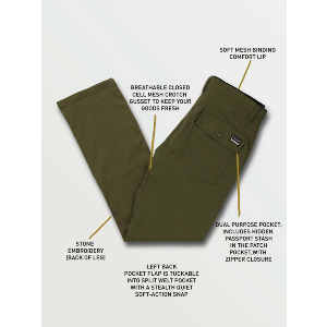 STONE TRAIL MASTER PANT - MILITARY