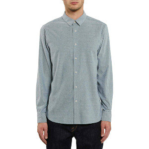 OXFORD STRETCH L/S - RINCON BLUE