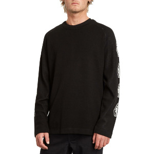 VOLCOM X GIRL SKATEBOARDS SWEATER - BLACK