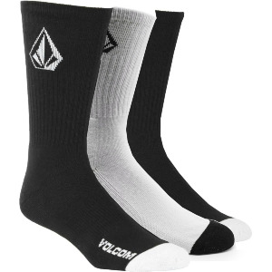 FULL STONE SOCK 3Pack - BLACK WHITE