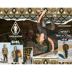 PRETTY STONED VOLCOM X GIRL SKATEBOARDS SS - MILITARY