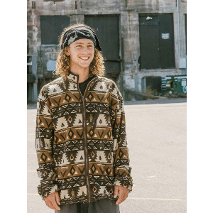 VOLCOM X GIRL SKATEBOARDS POLAR ZIP - PRINT