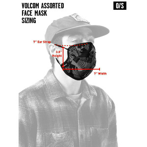 VOLCOM ASST FACEMASK - BLACK ON BLACK