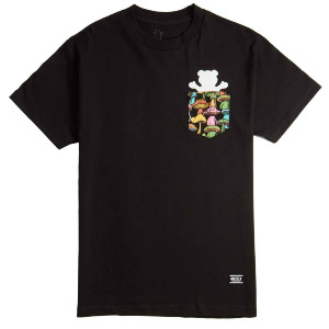 FUNGI POCKET BEAR TEE - BLK