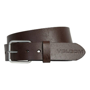 EFFECTIVE LEATHER BELT - BROWN