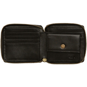 ZIP AROUND WALLET - BLACK