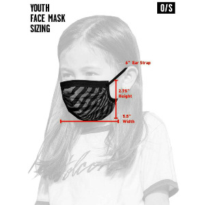VOLCOM ASST FACEMASK Kid's - BLACK ON BLACK